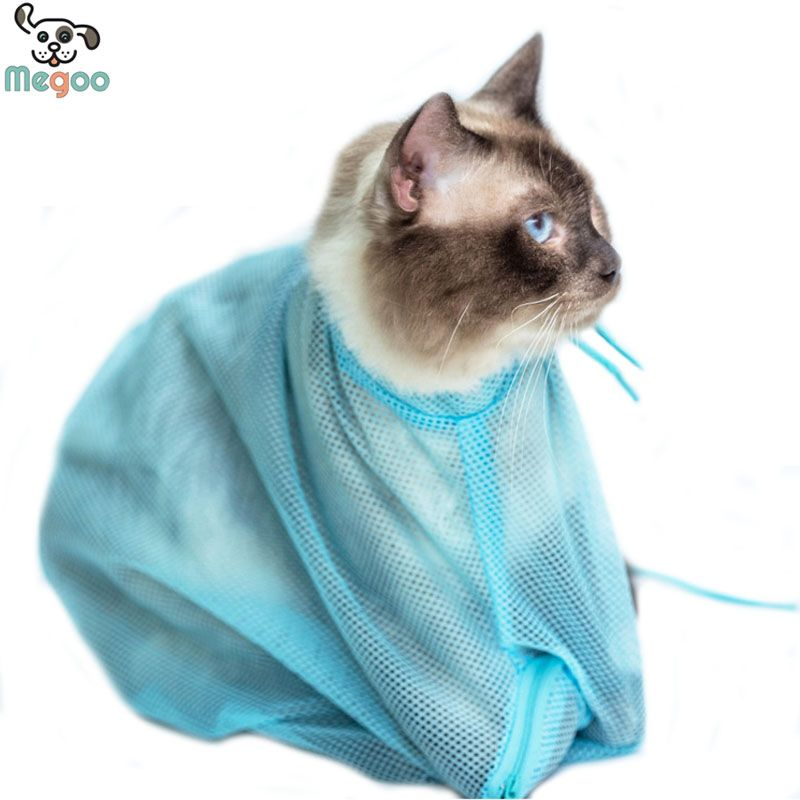 52 34cm Candy Color Pet Cat Grooming Bag Nail Clipping Bathing Cat