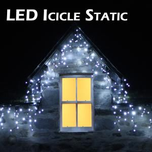 Ice white green cable icicle lights christmas pinterest icicle outdoor ice white static led icicle lights on dormer window workwithnaturefo