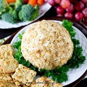 Garlic Lover's Cheese Ball - Tastes of Lizzy T's