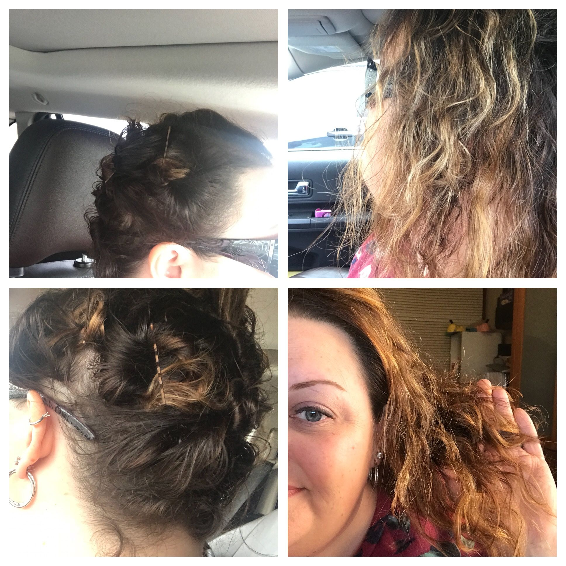 Air dry cream and some twisted pin curls! Jentrip.mymonat