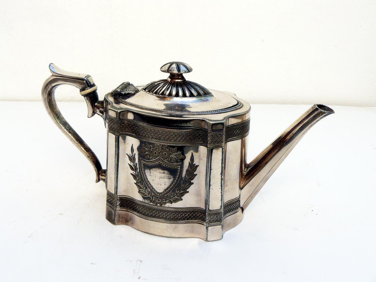 antique victorian silver teapot