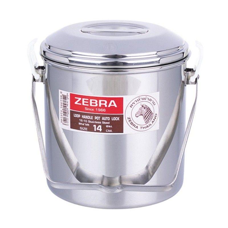 Zebra Head Loop Handle Pot 14cm