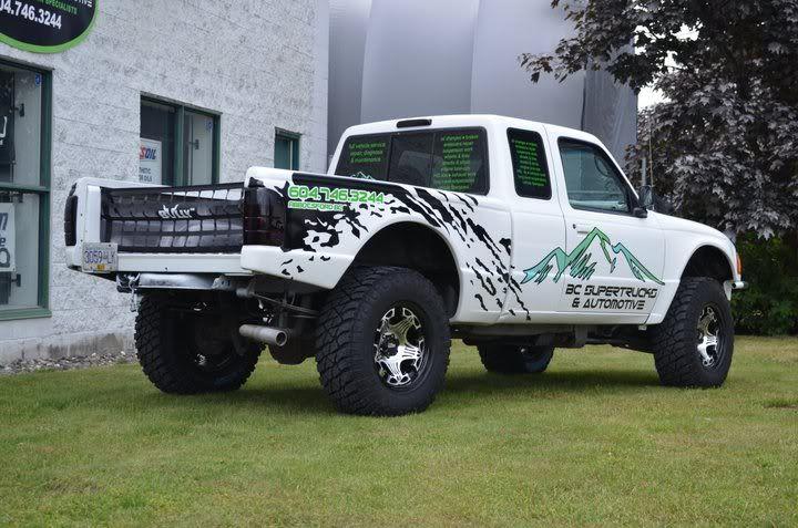 Ranger With Raptor Style Mud Slap Graphics My Rangers Ford Ranger Ranger
