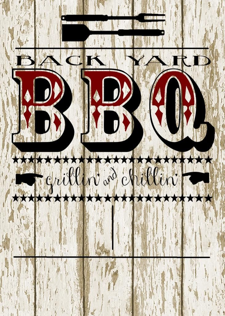 Back Yard BBQ Party Invitation At My3monsters