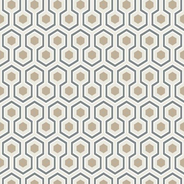 Papier peint Hicks\' Hexagon   David hicks, Wall decor and Contemporary