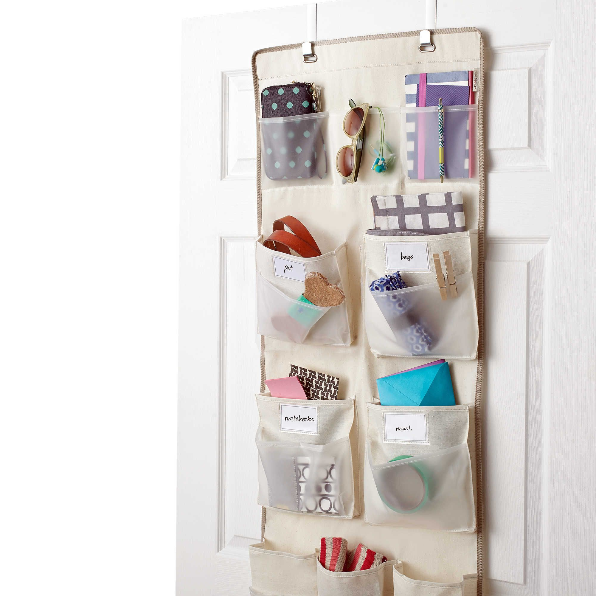Real Simple 29 Pocket Over the Door Multipurpose Organizer