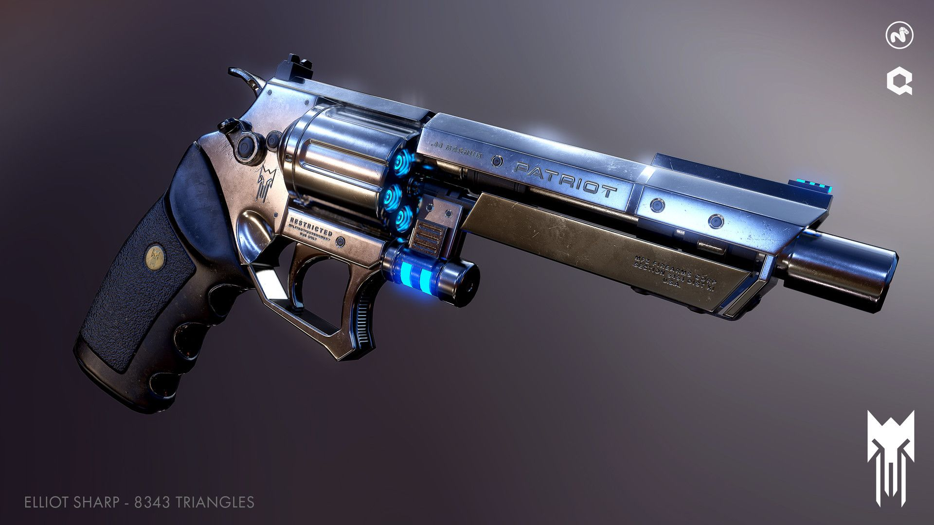ArtStation - [Free Download] Near Future Revolver + Free Practice Kit, Elliot Sharp