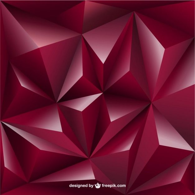 3D triangle background rose