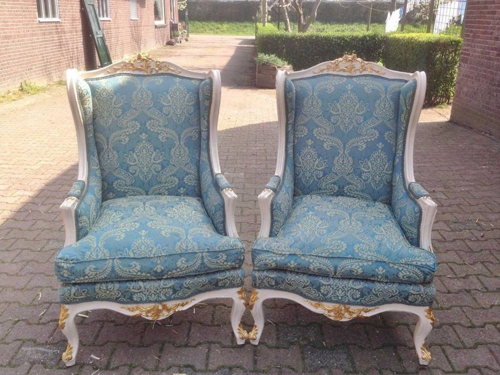 SET OF ANTIQUE CHAIRS IN FRENCH LOUIS XVI STYLE   1900