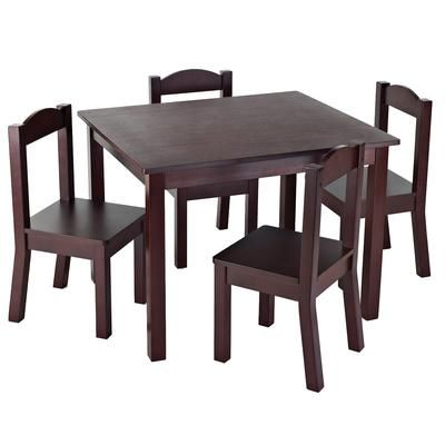 Tot Tutors - Table & 4 Chairs Espresso - 76730 - Home Depot Canada