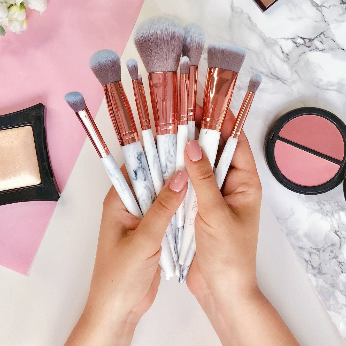 Marble Luxe 10 Piece Brush Set by BH Cosmetics #19