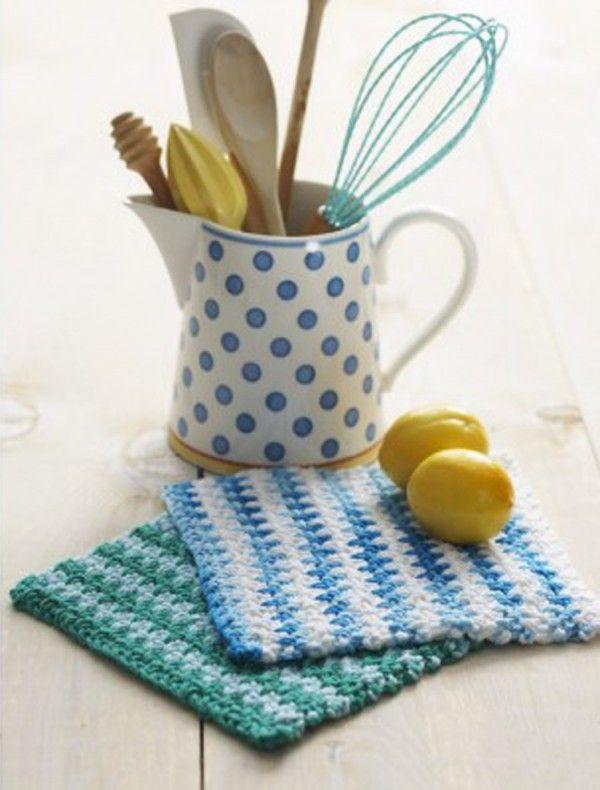 crochet dishcloth free pattern | Striped Crochet | Pinterest ...