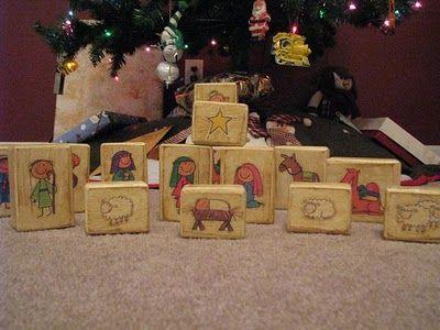 Gluesticks: Block Nativity Scene