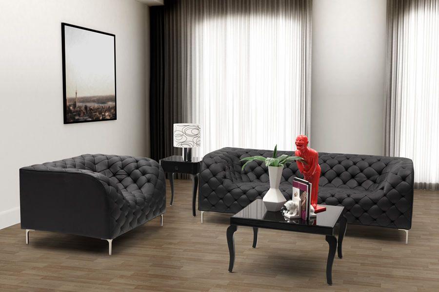 Zuo Modern Sofas U0026 Armchairs Providence Loveseat (Black)