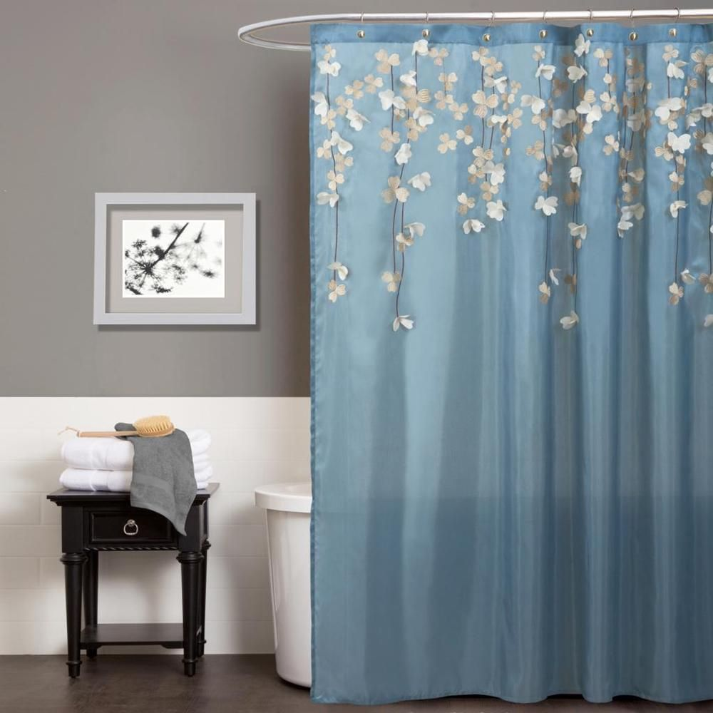Overstock Com Online Shopping Bedding Furniture Electronics Jewelry Clothing More Blue Shower Curtains Lush Decor Blue White Shower Curtain