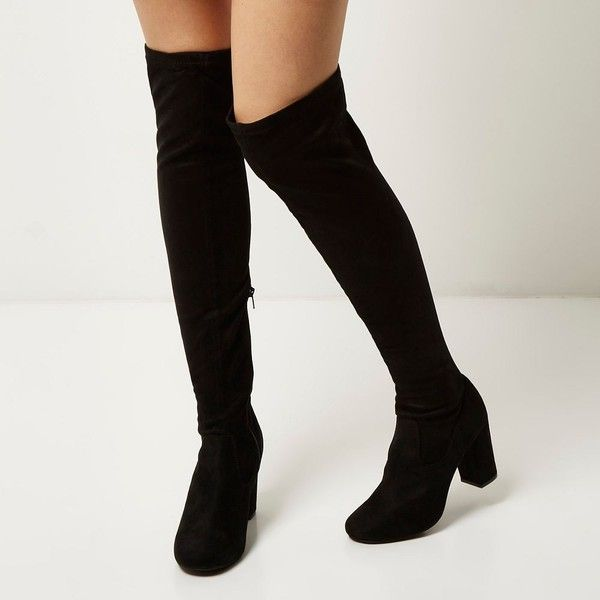 River Island Black over the knee boots