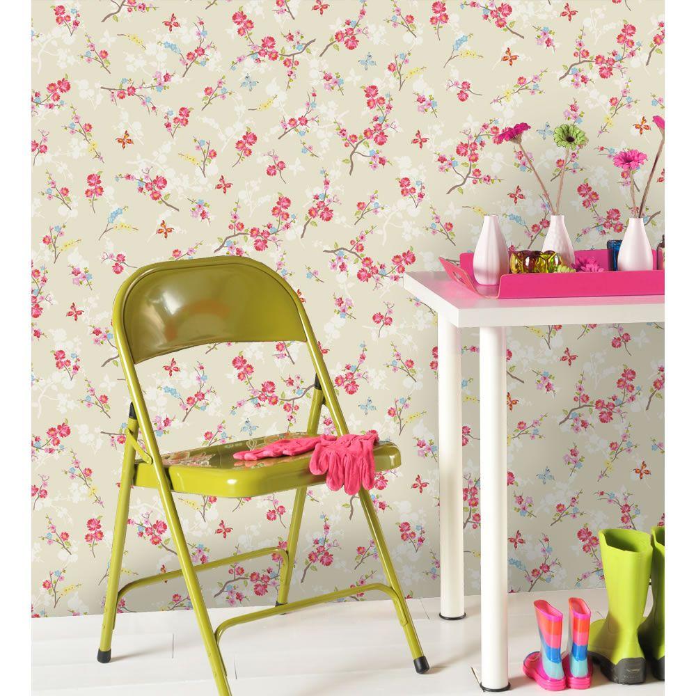 Wall stickers wilko - Holden K2 Blossom Beige Wallpaper 11249 At Wilko Com