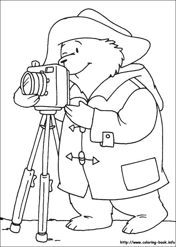 Paddington Bear coloring picture | zomer | Pinterest | Colorear ...