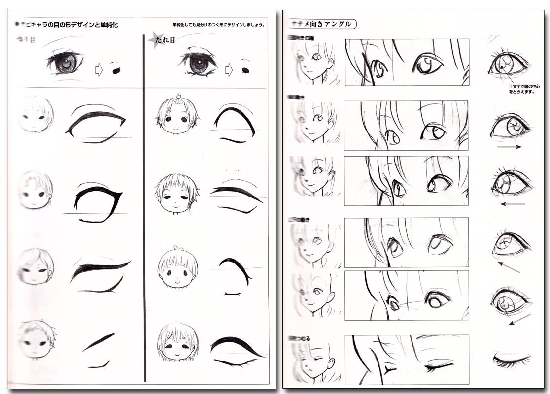How to Draw Manga Characters' Facial Expressions Reference