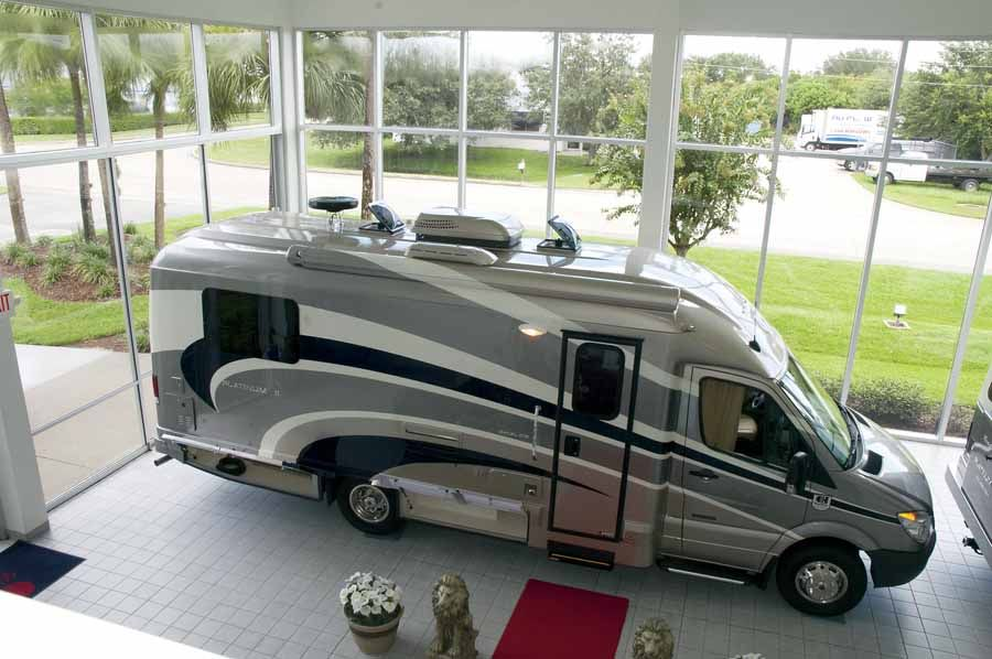 Luxury motorhomes fuel efficient downsized class c for Mercedes benz luxury rv