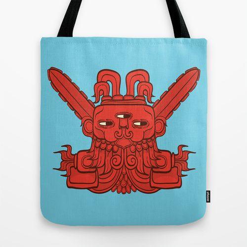 Ah Puch (Mayan God of War) Tote Bag