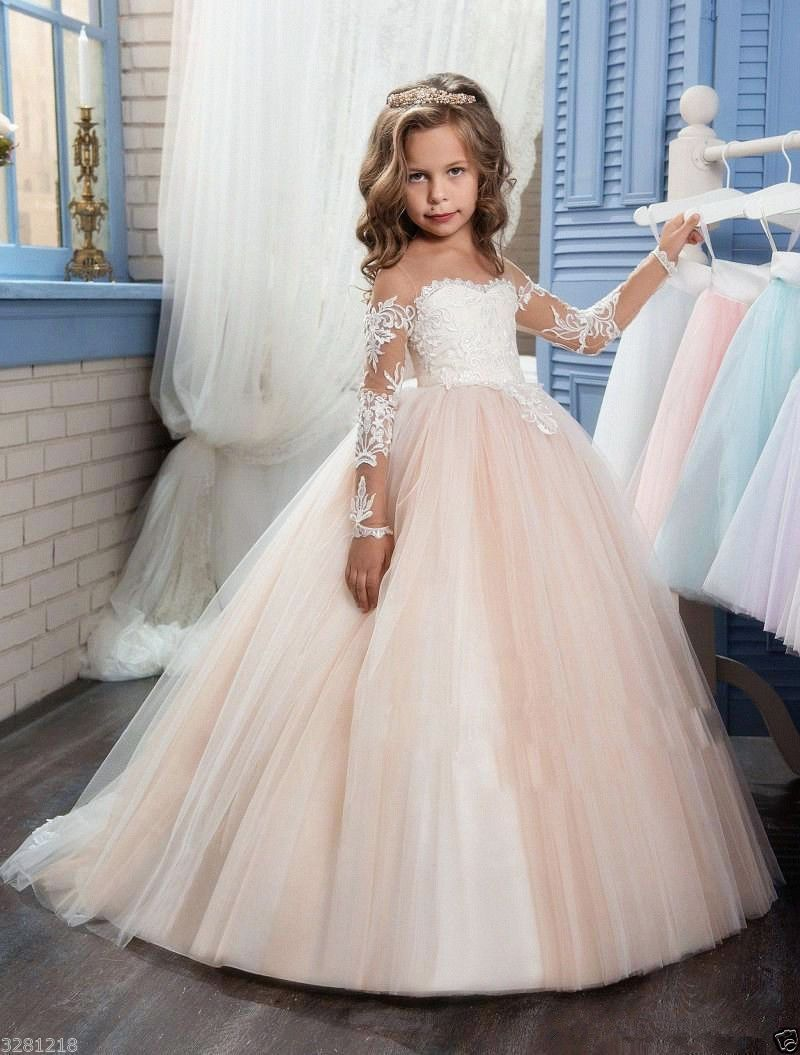 Little girl dresses for weddings  Flower Girl Dress Bridesmaid Wedding Communion Pageant Party