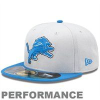 Detroit Lions New Era On-Field Player Sideline 59FIFTY Fitted Hat - Gray/Honolulu  blue