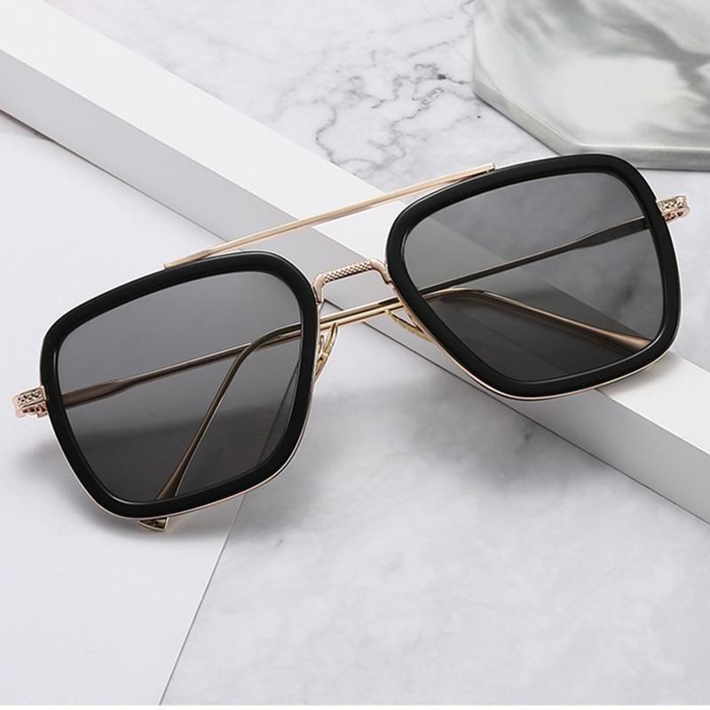 Classic Retro Vintage Men Fashion PILOT Sunglasses Racing Sports Glasses WHI P