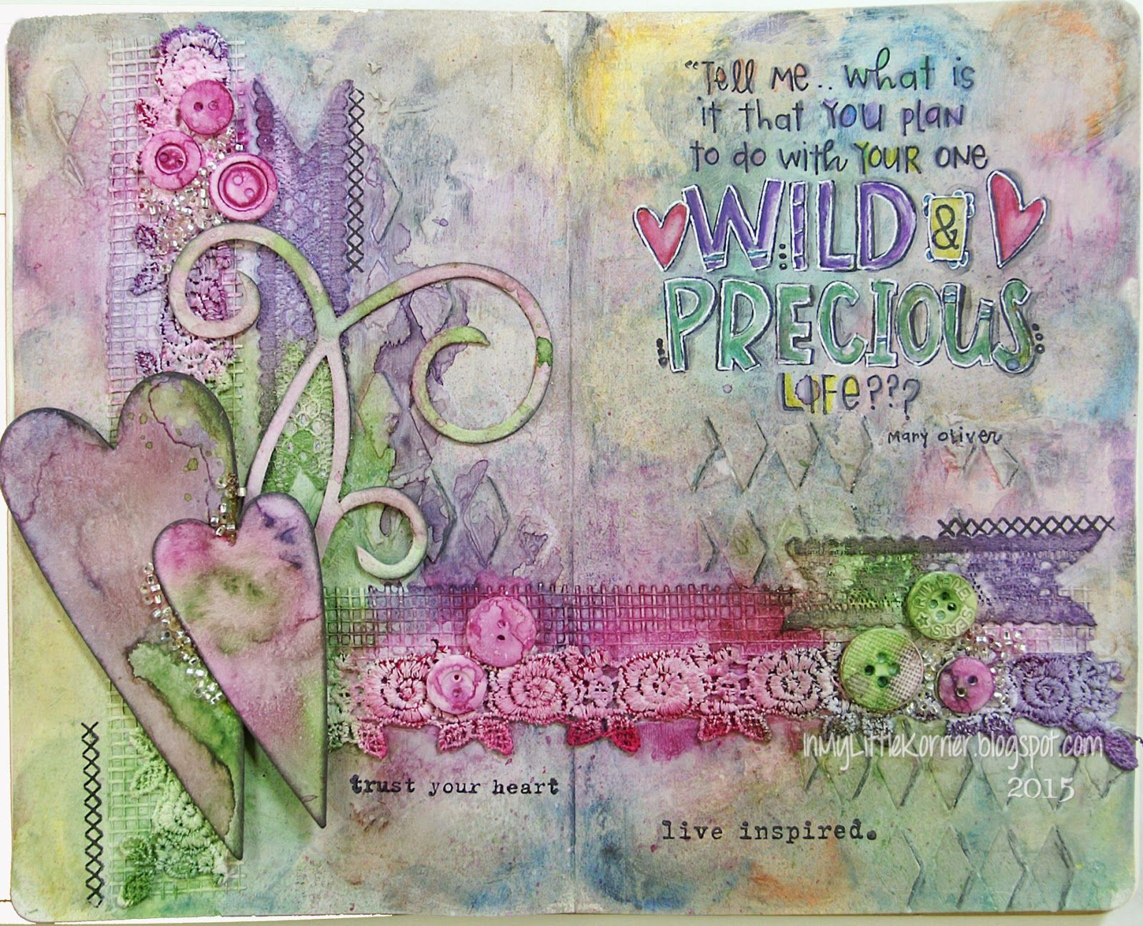 In My Little Korner: Art Journal - Wild and Precious Life...