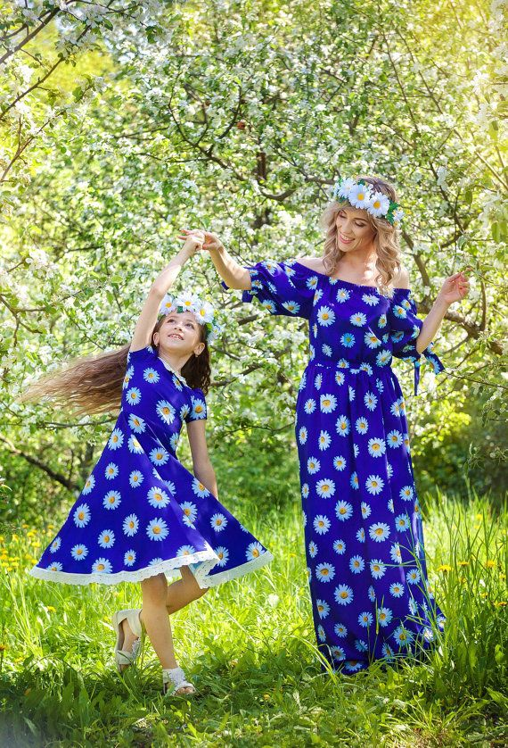 Matching mommy and baby maxi dresses