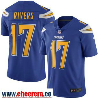 05293c77e ... low cost mens san diego chargers 17 philip rivers nike royal color rush limited  jersey c237b