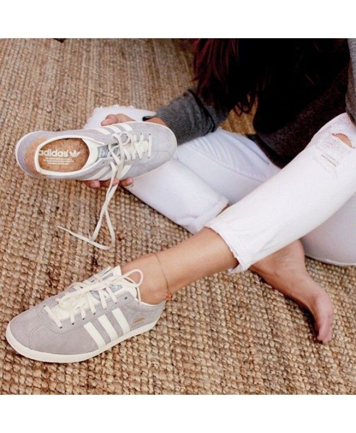 Womens Adidas Gazelle Beige Trainer in 2019 | Adidas gazelle