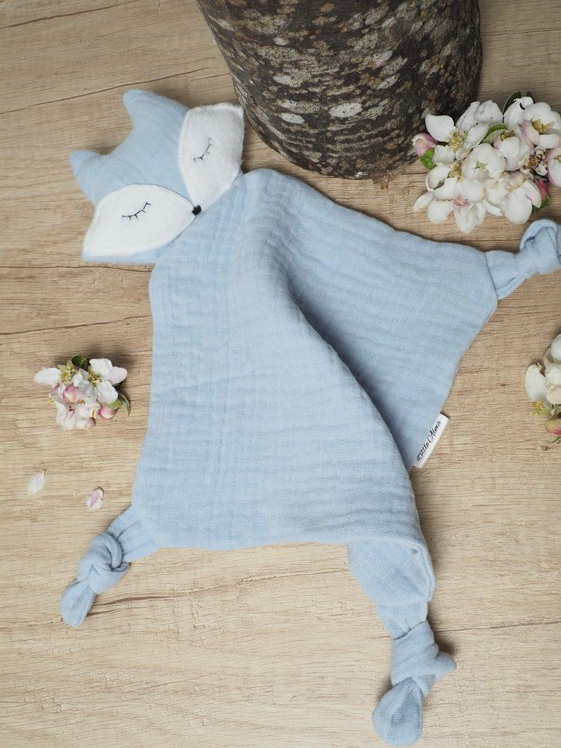 Baby Double gauze Comfort blanket, Fox comforter,