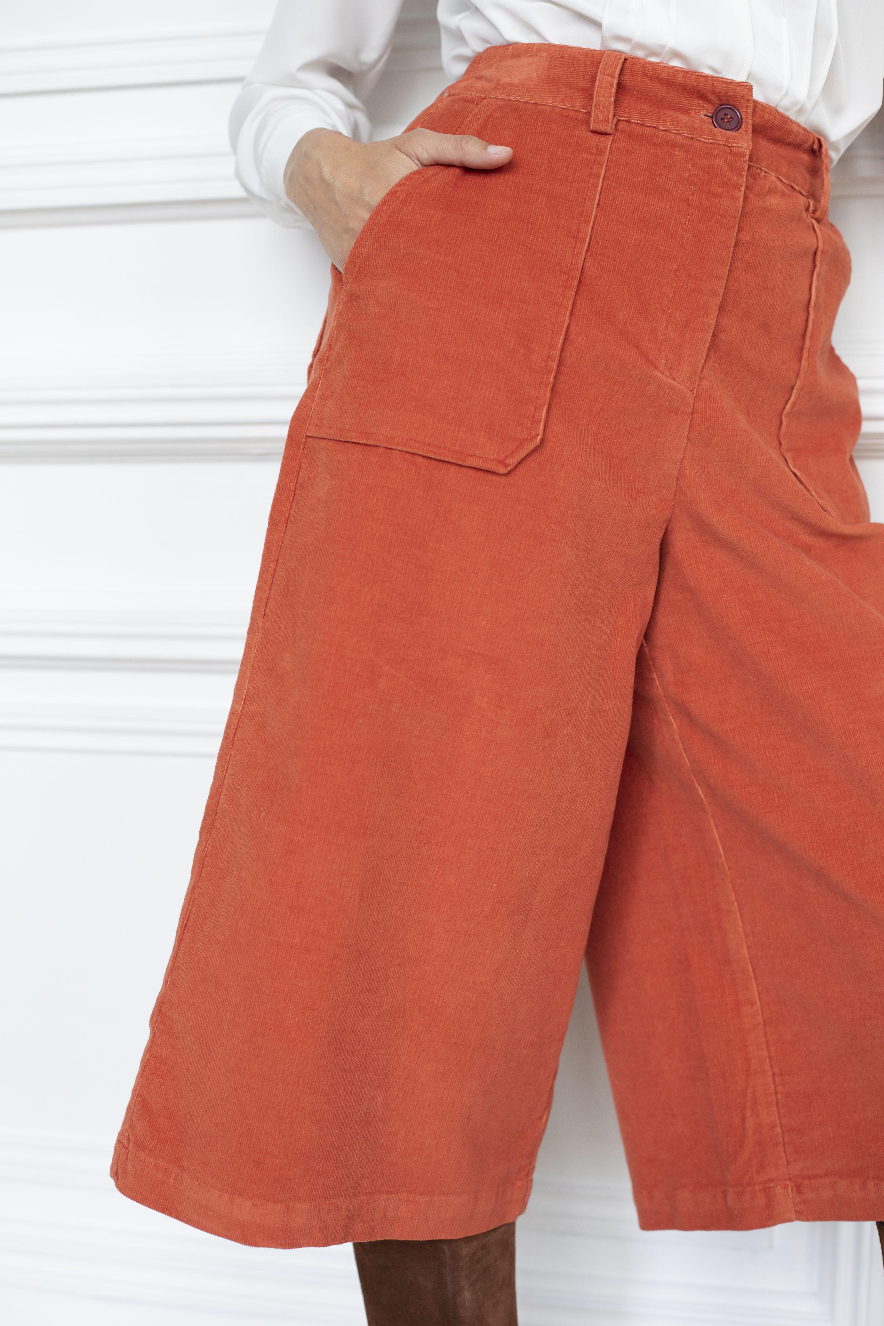 Jupe-culotte velours