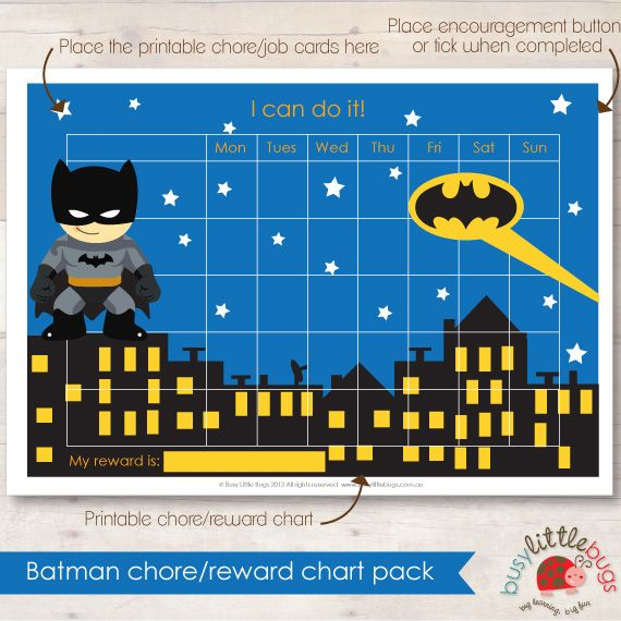Batman Chore Chart!! Boy after our own hearts!!!!!! ) My - blank sticker chart