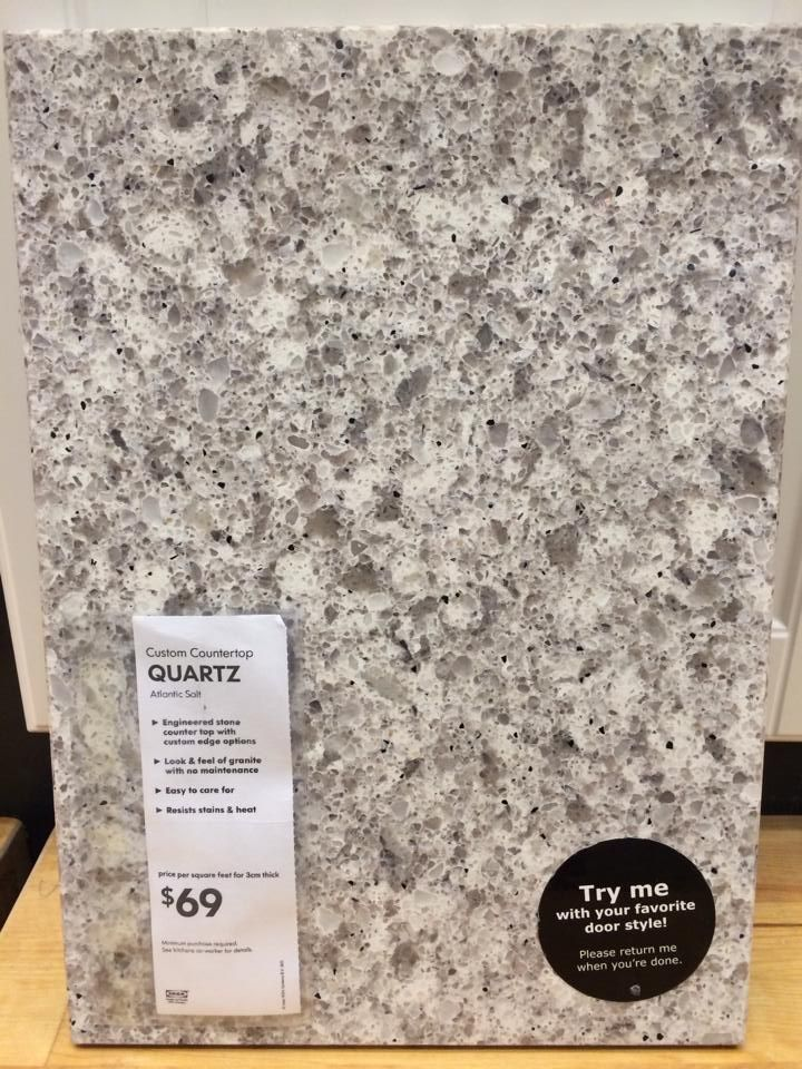 Quartz Kitchen Countertop From Ikea Renovation Ideas Pinterest Countertop Kitchens And