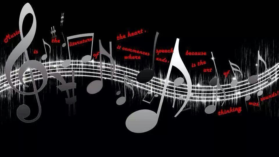 Music Is Good For The Soul Music Notes Background Wallpaper