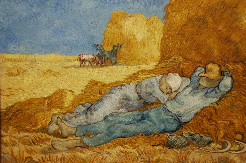 Riposo nel fieno, V. Van Gogh