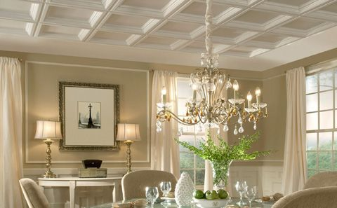 Cove Ceiling | Coffered Ceiling Design | Vaulted Ceiling ...