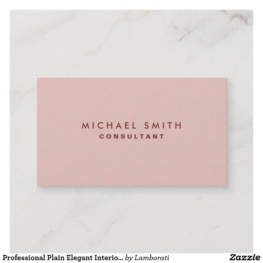 Professional plain elegant interior decorator pink business card also rh in pinterest