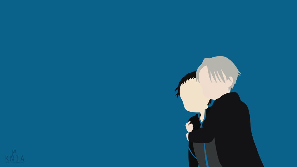 Katsuki Yuri And Viktor Nikiforov Yuri On Ice By Kuronekoisawesum Anime Computer Wallpaper Yuri On Ice Anime Background