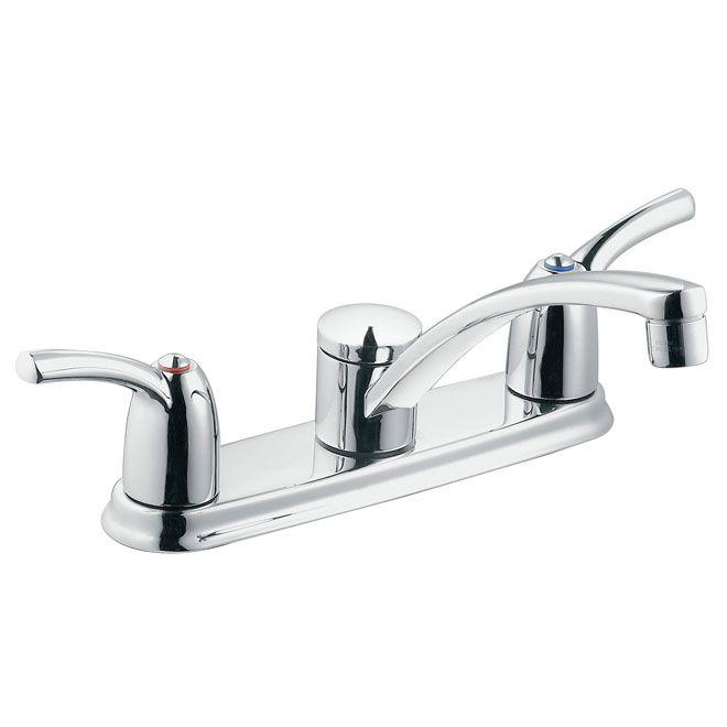Moen Adler 2 Handle Kitchen Faucet 3 Hole 87412 Rona