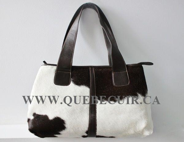 Big dark brown and white cowhide bag. CA$ 288.