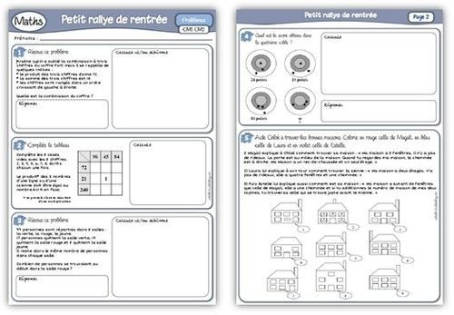 Rallye maths ce2
