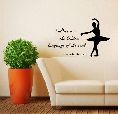 Housewares Wall Vinyl Decal Quote About Dance Life Ballet with Dancer Ballerina Home Art Decor Kids Nursery Removable Stylish Sticker Mural Unique Design for Any Room Decal House http://www.amazon.com/dp/B00I0BNXQ4/ref=cm_sw_r_pi_dp_9YDnub1NHAWW9