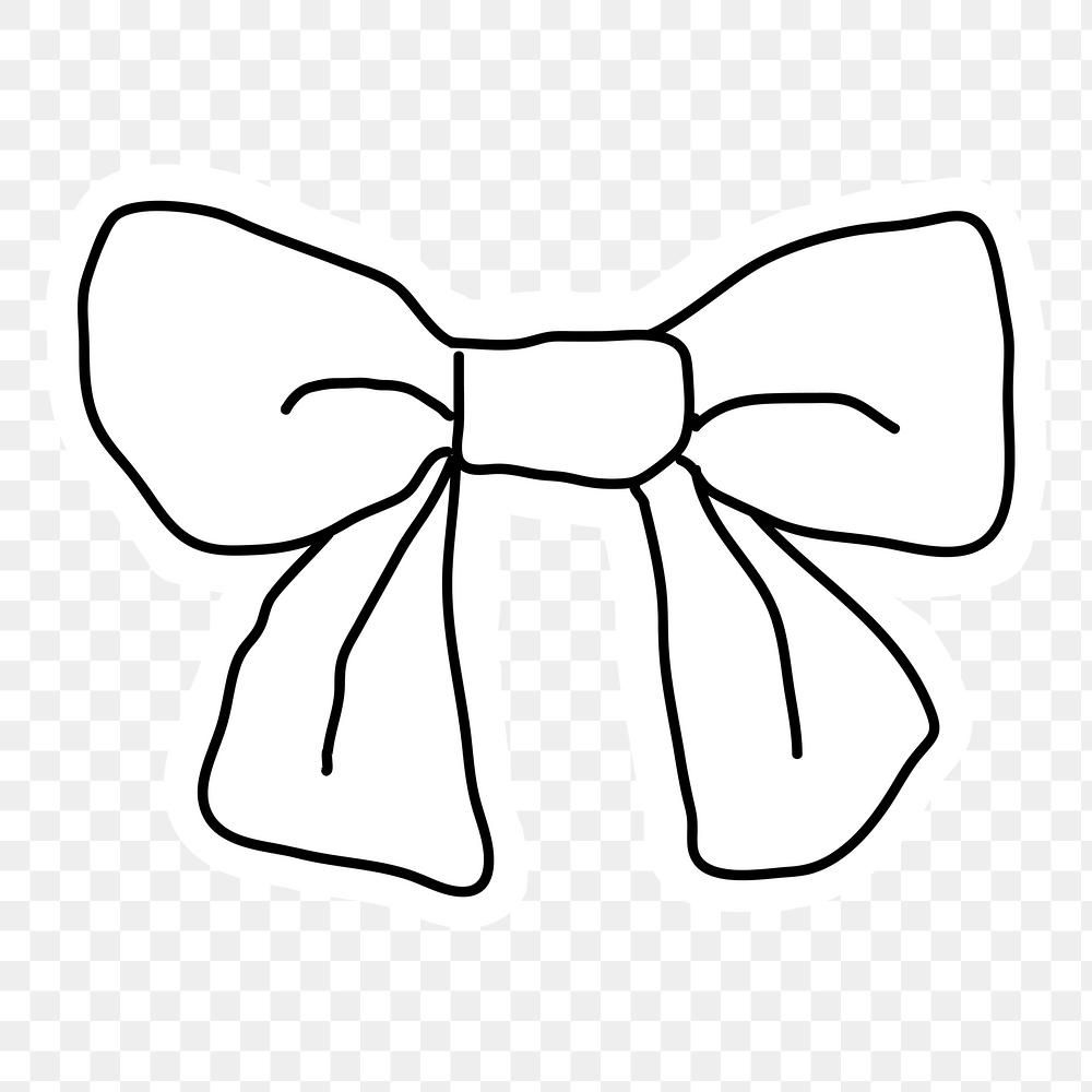 Black And White Bow Doodle Sticker With A White Border Design Element Free Image By Rawpixel Com Nunny White Bow Doodles Free Illustrations