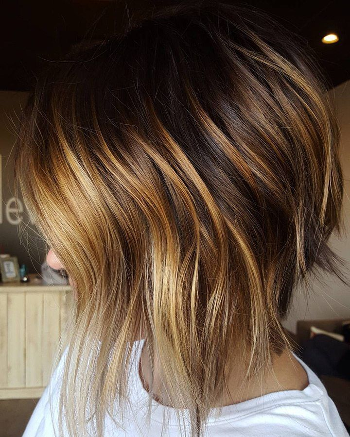Bob avec Highlights My smaak Cheveux, Cheveux coiffure