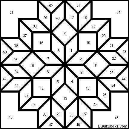 Patrón de patchwork - Diseño multiestrella para hacer patchwork ...