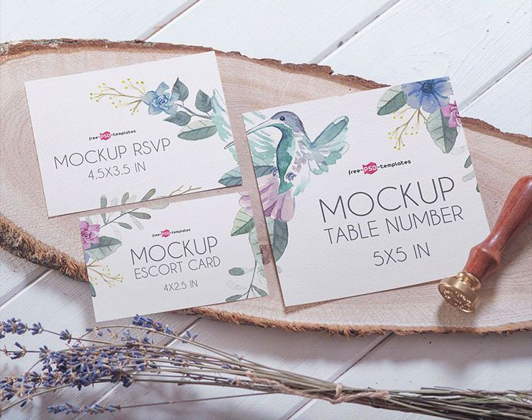 This Mockup Will Help You Present Your Own Invitation Card Designs