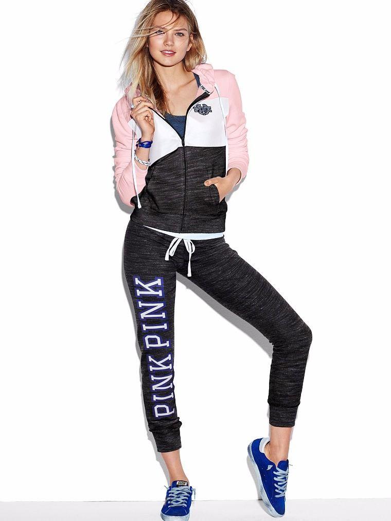 Conjuntos Campera Y Pantalon Victorias Secret Pink 2016 D Nq Np 248021 Mla20679695833 042016 F Jpg 760 1013 Gym Clothes Women Outfits Workout Leggings Outfit